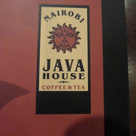 Nairobi Java House: Menu
