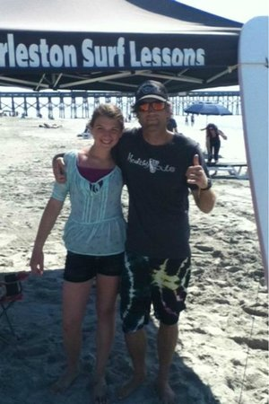 Charleston Surf Lessons: sis and josh picture time