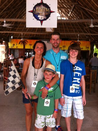The Amazing Cozumel Race: The family after completing the race