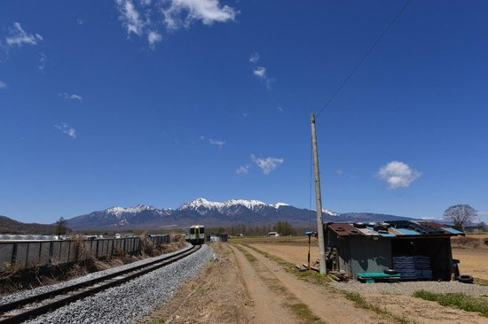Minamimaki-mura, Japón: 高原列車と八ヶ岳
