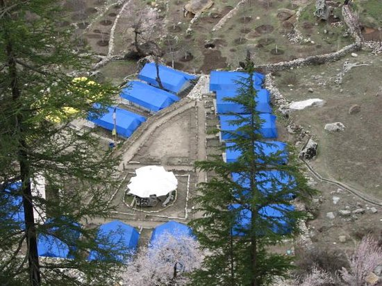 Kinner Camp Sangla: View of the camp from the top