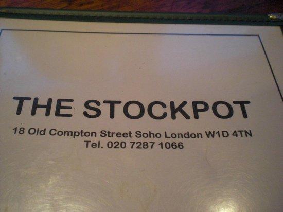 Stockpot: menu