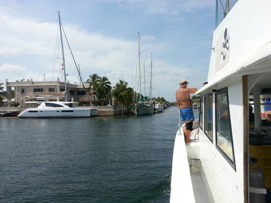 Sea Dwellers Dive Center of Key Largo: Crew on the way in