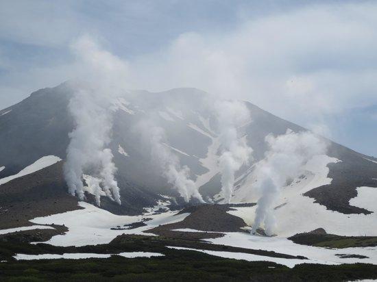 Mt. Asahidake : 蒸気の上がる山腹