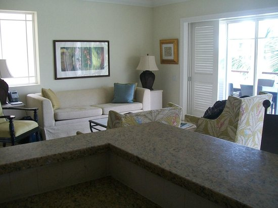 The Landings St. Lucia: Villa's living area.