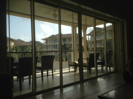 The Landings St. Lucia: Massive sliding glass doors to open up to the 2nd balcony with marinia views.