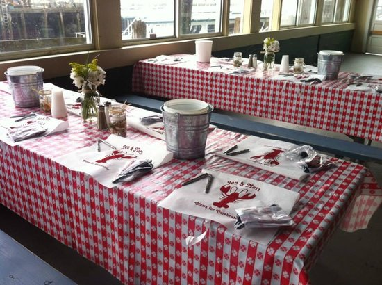 The Gloucester House Restaurant: A lobsterbake style rehearsal dinner in Cafe Seven Seas, on Gloucester's working waterfront.
