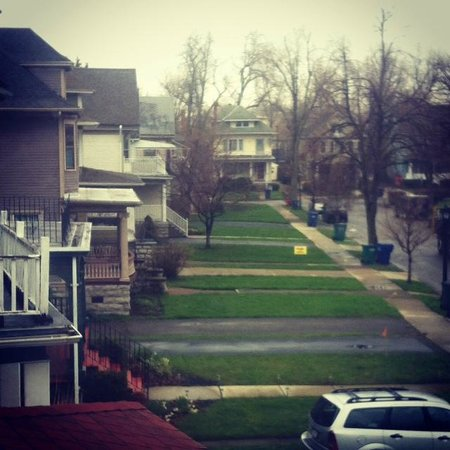 Parkside House: La vista que teníamos por las mañanas