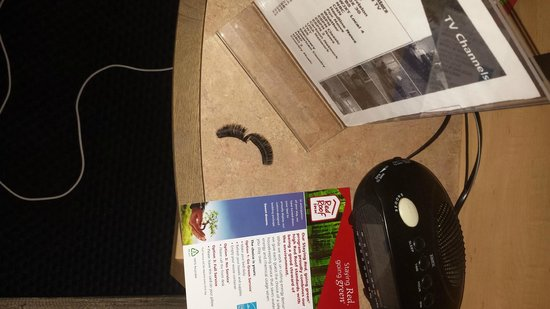 Red Roof Inn - Jacksonville Airport: These are the eyelashes left from a previous guest in the room I occupied -