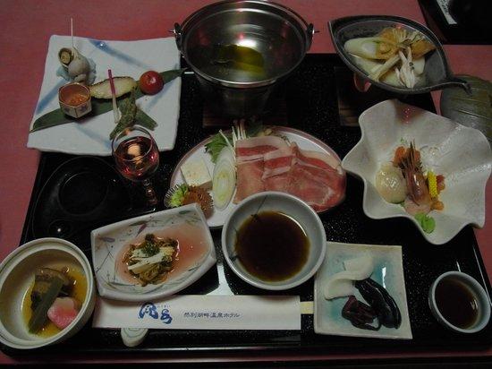 Hotel Fusui: 夕食の一部