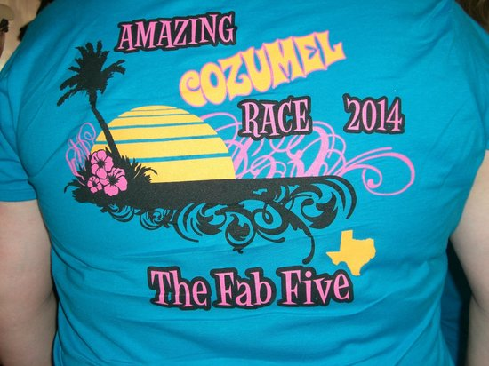 The Amazing Cozumel Race: Our team's t-shirt