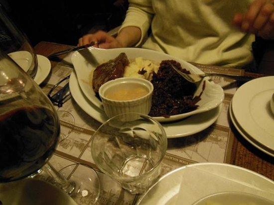 Restaurant Haesje Claes: filetto con contorno