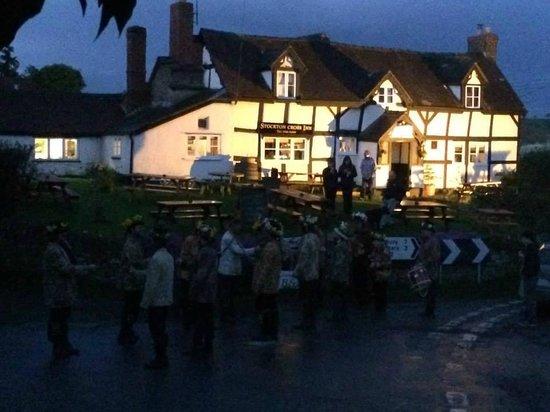 Stockton Cross Inn: Morris Dancers Performing Out in the Street