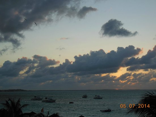 Beaches Turks & Caicos Resort Villages & Spa: Sunset at Sky Restaurant