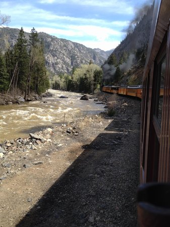 Durango and Silverton Narrow Gauge Railroad and Museum: On the way to Silverton