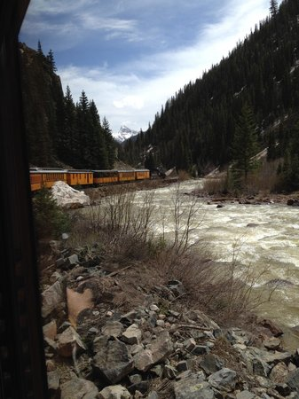 Durango and Silverton Narrow Gauge Railroad and Museum: Headed back to Durango