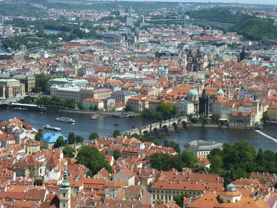 Petrin Tower (Rozhledna): View of the Charles Bridge