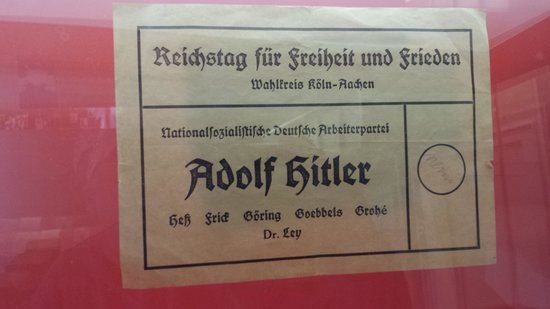 National Socialism Documentation Center : The election Ballet when Hitler was in power. Only his name on the ballot