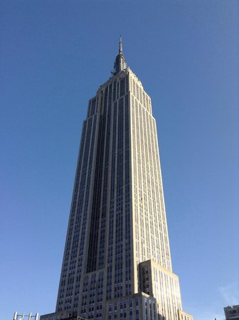 Hotel Metro: Empire State Building from hotel roof bar