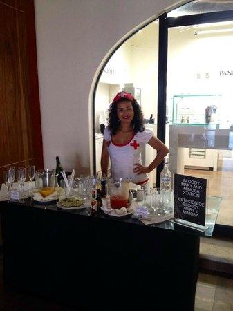 Hard Rock Hotel Riviera Maya: Bloody Mary RX at breakfast!