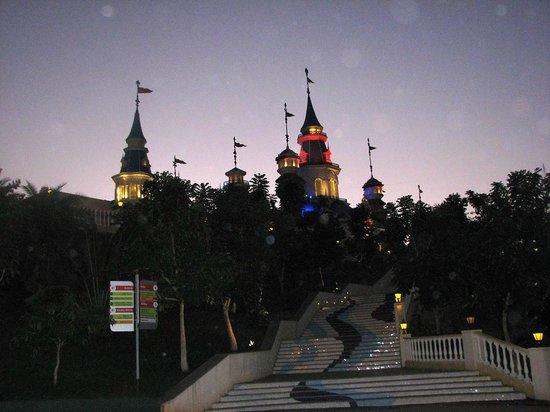 Imagica Theme Park: The Imagica Captial at evening