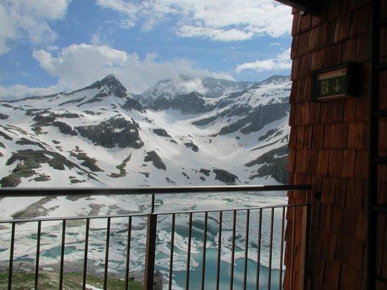 Berghotel Rudolfshütte: Blick aus dem Zimmer