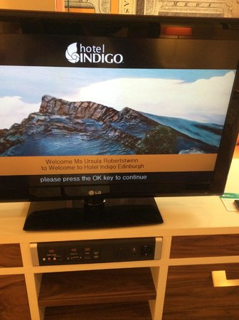 Hotel Indigo Edinburgh : TV