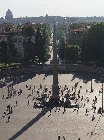 Oly Hotel: Piazza del Popolo vue du Pincio