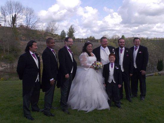 Ballyhass Lakes Activity Centre, Fishing & Wakepark: with the groomsmen