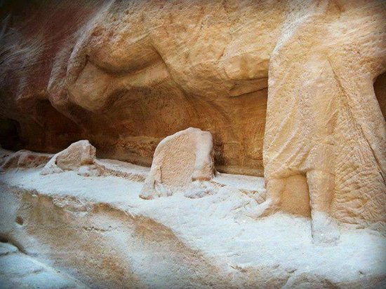 The Golden Triangle Travel Private Day Tours: sculptures along the siq one can only imagine in all its glory how it must have looked and welco