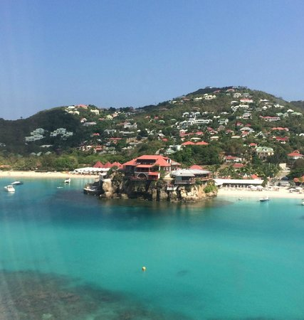 Eden Rock - St Barths: The Eden Rock Resort from plane as we departed