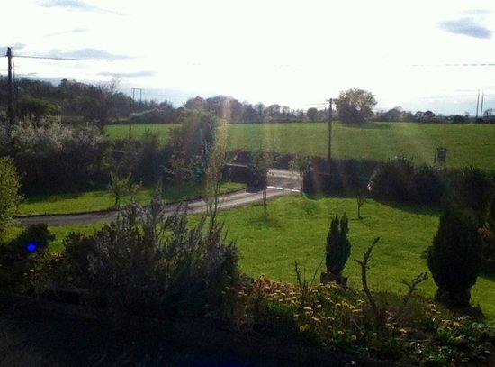 Lough Bran House: View from our bedroom window