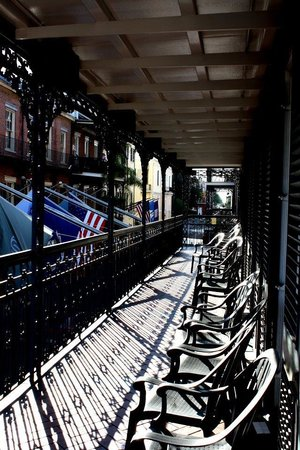 Royal Sonesta New Orleans : The balcony.