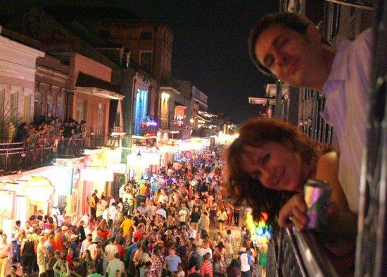 Royal Sonesta New Orleans : An average Friday on Bourbon Street as seen from the Royal Sonesta balcony.