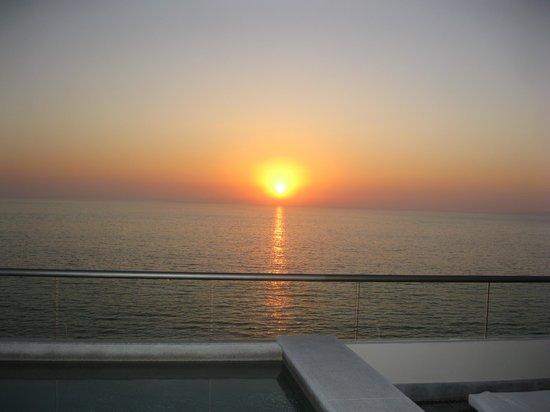 Secrets Vallarta Bay Resort & Spa: Sunset from our room balcony