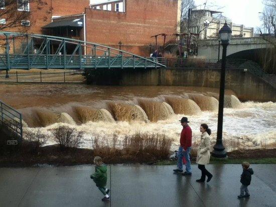 Falls Park on the Reedy : Falls after a major storm