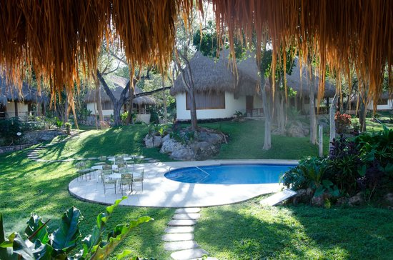The Lodge at Chichen Itza: Lodge at Chichenitza - our morning view