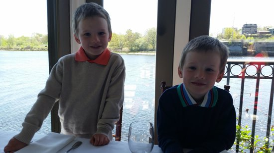 Waterman Grille: My Grandsons gave it 4 thumbs up!