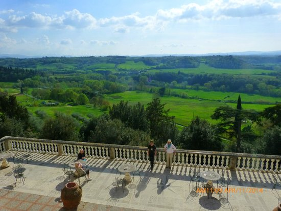 Villa Lecchi: the view from the balcony