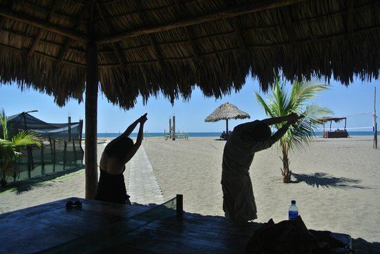 Surfing Turtle Lodge: Early morning yoga sessions