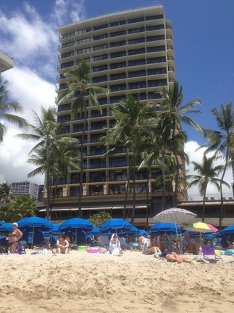 Outrigger Waikiki Beach Resort: View From The Beach