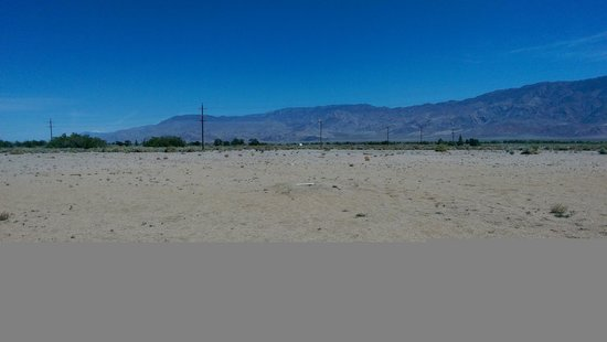 Manzanar National Historic Site: baseball diamond (you can see the pitcher's mound)