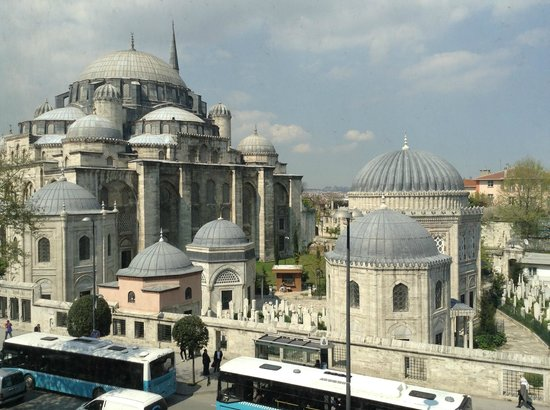 Grand Hotel Gulsoy: Mosque across the street