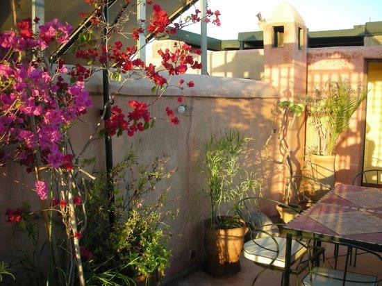 Riad Chorfa: de prachtige ruime lichte patio