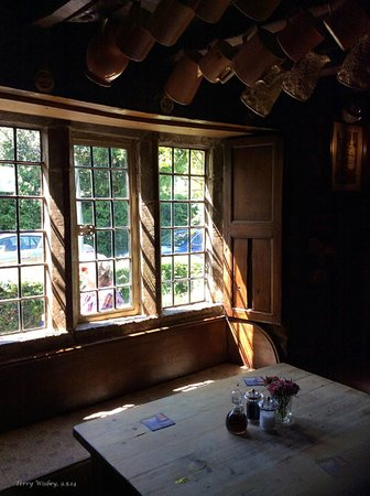 Falkland Arms: One of the lovely old windows