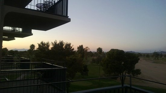 Francisco Grande Hotel & Golf Resort : Standing on our balcony