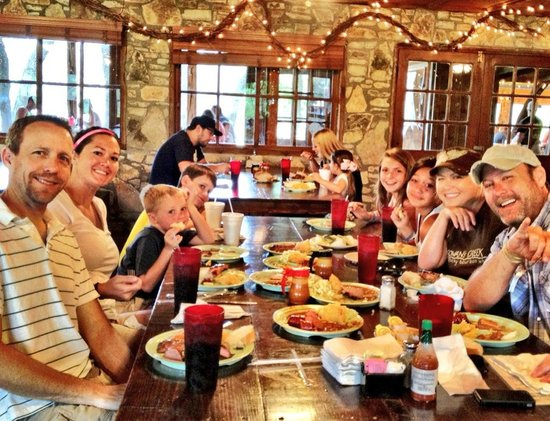 Salt Lick BBQ : The family inside - lots of outside seating as well!