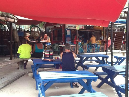 Harbour Lights : Some of the tables and umbrellas