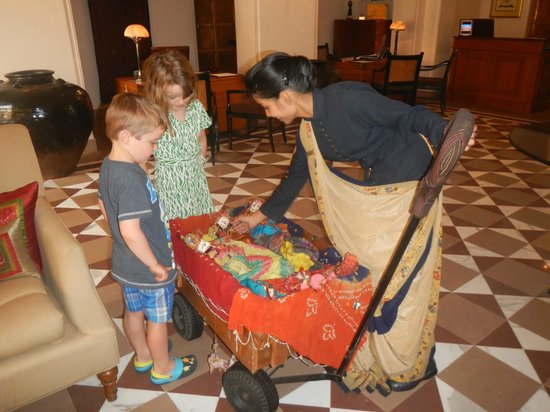 The Oberoi Rajvilas : Kids' welcome - choice of dolls from the trolley!  nice touch