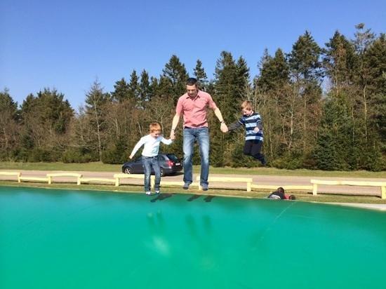 Lalandia Resort: massive trampoline near Hyldestein 25